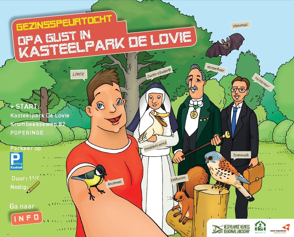 Opa Gust in kasteelpark De Lovie